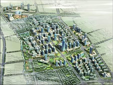 城市中心用地结构图