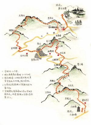 杭州登山图线路B