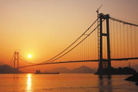 舟山连岛大桥将建成 宁波过去仅需半个小时(图)