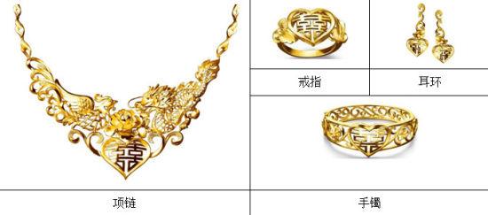 手绘设计龙凤珠宝